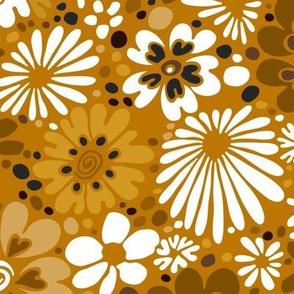 Heart Flowers - Mustard