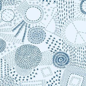 blue sashiko coord 2