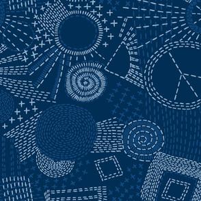 blue sashiko coordinate