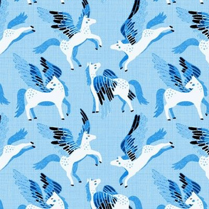 Blue Pegasus Pattern - Small Version
