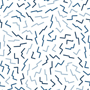 classic blue abstract dashes  -large scale