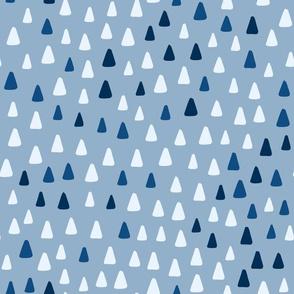 classic blue triangles  - medium scale