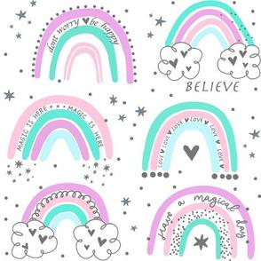 hipppie pastel rainbow