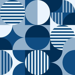 Geometric classic blue challenge