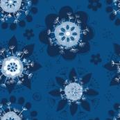Scandinavian Classic Blue Florals
