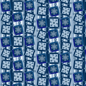 TOSSED BLUE QUILT. Spoonflower