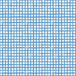 "6"" Bright Blue Grid Pattern"