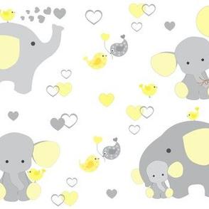 Yellow Elephant Baby Nursery