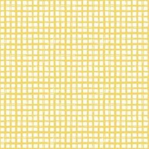 "6"" Yellow Grid Pattern"