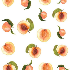 Spring Peaches Pattern
