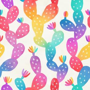 Watercolor Rainbow Cacti