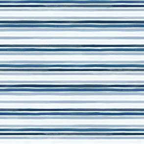 Mini Watercolor Stripes Multi Pantone Classic Blue by Friztin