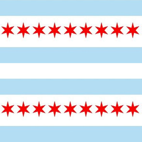 chicago flag fabric - stripes and stars, chicago fabric, chicago flag fabric,