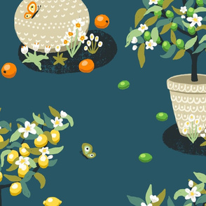 Citrus Trees Large Scale
