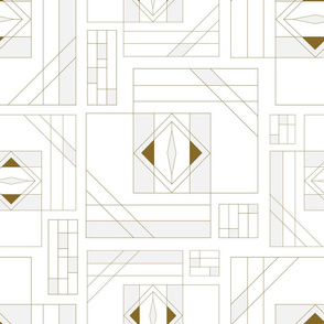 Line drawing seamless pattern brown and grey