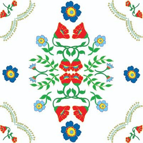 Flowers Mexican Inspired tile large file RGB