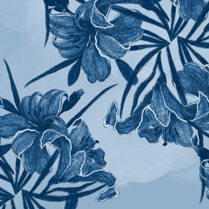 Classic Blue Lily Flowers