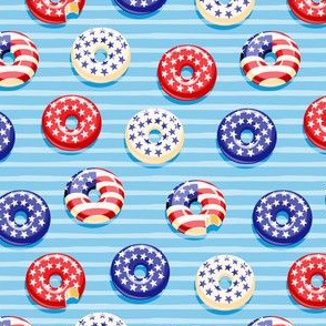 """(1"""" scale) Stars and Stripes - Flag Donuts - Blue Stripes LAD19C20BS"""