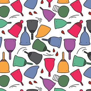 Menstrual Cups Brights Toon on White