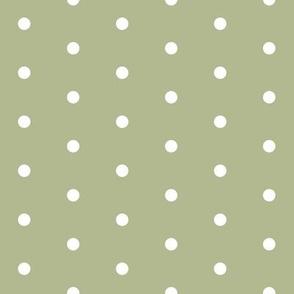 brown rose quilt dot green dot - green dots fabric