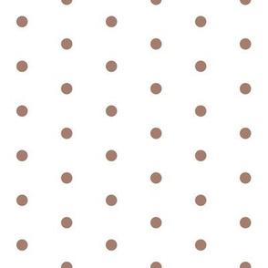 brown rose quilt dot - brown dot, neutral dot, swiss dot