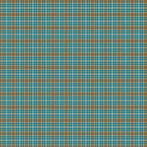 Clear Spring Blue Brown Plaid Small Scale Seasonal Colors Palette