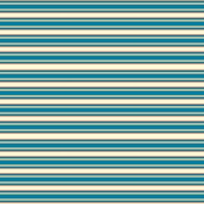 Clear Spring Horizontal Stripes Small Scale Seasonal Color Palette