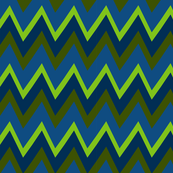 Connecting Puzzle Zig Zag Stripe - classic blue green