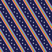Groove Line* (Jackie Blue) || rainbow stripes stars 70s 80s disco