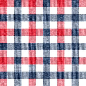 red white and blue plaid - check - LAD20