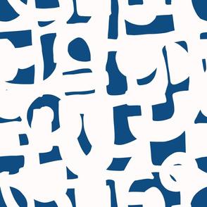 Classic Blue Shapes