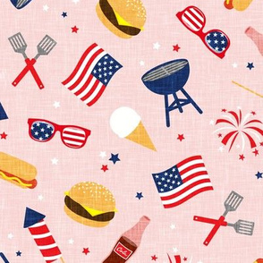 Cookout - Memorial Day/July 4th USA - pink - LAD20