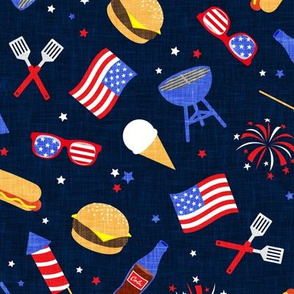 Cookout - Memorial Day/July 4th USA - navy - LAD20