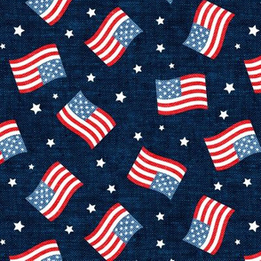 American Flag - USA - stars and flags - navy - LAD20