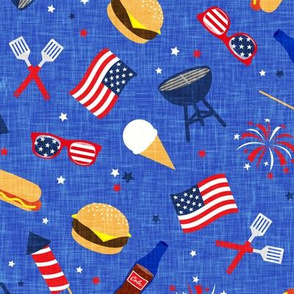 Cookout - Memorial Day/July 4th USA - blue3 - LAD20
