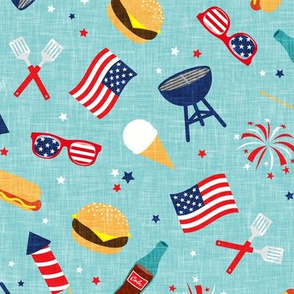 Cookout - Memorial Day/July 4th USA - blue2 - LAD20