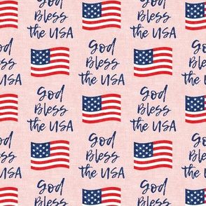 God Bless the USA - American Flag - pink - LAD20