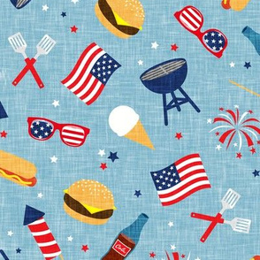 Cookout - Memorial Day/July 4th USA - blue - LAD20