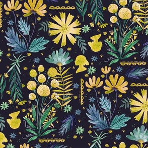 Persephone's Peonies - Yellow