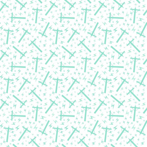 Lineman Distribution Power Line Pole  Mint White Background