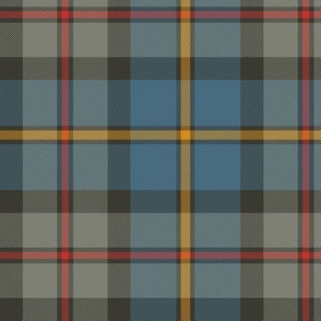 "MacLeod Green or Hunting tartan, 6"", grey weathered"