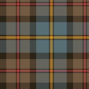"""MacLeod Green or Hunting tartan, 6"""", cyan/brown weathered"""