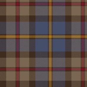 "MacLeod Green or Hunting tartan, 6"", dark weathered"