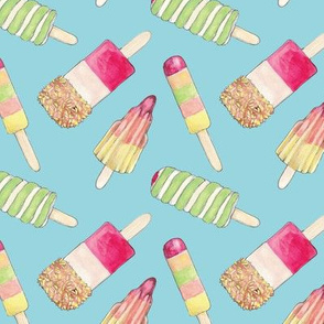 SUMMER YUMMY ICE LOLLY PRINT Pale Blue