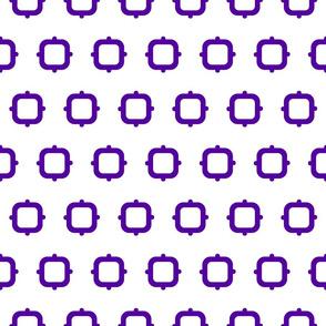 Squares & Knobs - Purple & White - Small