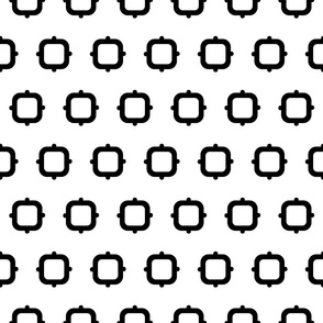 Squares & Knobs - Black & White - Small