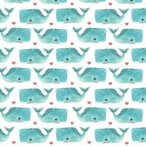 Blue Whales and Hearts - Smallest Scale