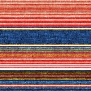 serape southwest stripes - blue/red - C20BS