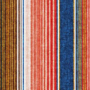 serape southwest stripes - blue/red (90) - C20BS