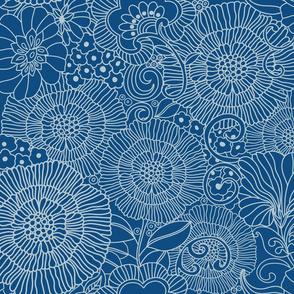Floral Line Classic Blue